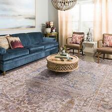 Extra Large Floor Rug Beige Blue Cream Traditional Vintage Retro Carpet 240*330