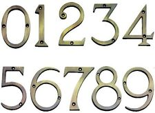Solid Antique Brass 75mm Polished House Front Door Numbers
