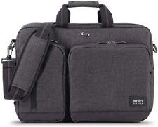 Solo New York Duane Hybrid Convertible Laptop Briefcase, Gray