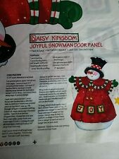Daisy Kingdom Sandi Gore Colorful Sewing Quilting Snowman Panel
