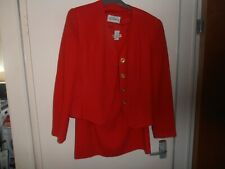 Windsmoor red skirt suit - size 12 - fully lined 100% pure new wool