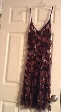 Shirt Passion Italia Ballroom Practice Brown Multicolor Two Layers Dress SZ S