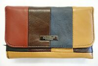 Soft Cow Hide Leather Purse Wallet With Front Flap and Zip Around RFID Protected