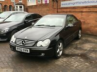 Mercedes Benz CLK 240 Elegance Coupe 2002  Auto Blue Black - Read description