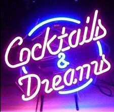 """New Cocktails And Dreams Pub Bar Neon Sign 17""""x14"""""""