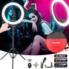 Für Fotografie Videoaufnahmen 16'' Ringlicht LED Dimmbar Ringleuchte +Ständer DE