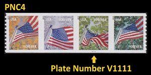 US 4766-4769 4769a Flag for All Seasons forever PNC4 AVR V1111 MNH 2013