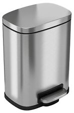 iTouchless SoftStep 5 Liter Stainless Steel Step Trash Can, 1.32 Gallon