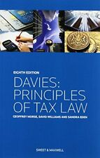 Davies - Principles of Tax Law - 8th Edition - PAPERBACK - Morse