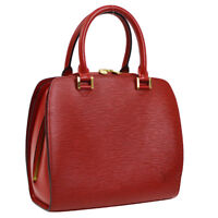 VUITTON PONT NEUF HAND BAG RED EPI LEATHER M52057 JT07206g