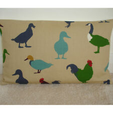 """20""""x12"""" Oblong Cushion Cover Ducks Roosters Cockrels Green Duck Egg Blue 12x20"""