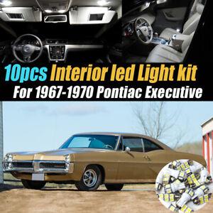 10pc Super White Car Interior LED Light Bulb Kit for 1967-1970 Pontiac Executive