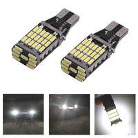 2 x T15 W16W 45 SMD 4014 Error Free LED Car Reverse Back 6000K White Light I2
