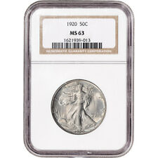1920 US Walking Liberty Silver Half Dollar 50C - NGC MS63