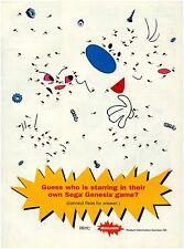 1993 Sega Genesis Ren & Stimpy teaser puzzle video game magazine print ad page