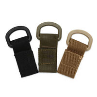 Outdoor Tactical Webbing Buckle Belt D-Ring Carabiner Buckle Nylon HooODIJ