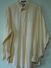 Tommy Hilfiger Men's Long Sleeve Buttoned Shirt Yellow/White Checkered 16 34-35
