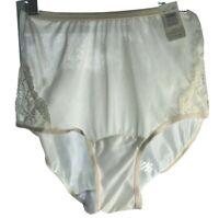 Vintage Vanity Fair Granny Sissy panties size 5  ivory 100% nylon sheer NWT