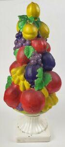 Rare Vintage Ceramic Bowl Of Fruit Centerpiece (tall)