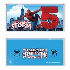 Spider-man Theme Chocolate Wrappers Printable Digital - Print At Home