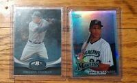 GIANCARLO MIKE STANTON 2010 TOPPS CHROME REFRACTOR RC & 2011 Freddie Freeman
