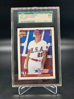 JASON GIAMBI 1991 Topps Traded ROOKIE Card #45T Graded SGC 96 MINT Team USA
