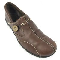 Clarks Bendables Womens Sz 7M Slip On Loafers Comfort Shoes 35063 Brown Leather