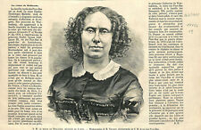 Reine des Pays-Bas Sophie Frédérique Mathilde de Wurtemberg GRAVURE 1877