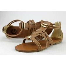 Sandalias con tiras de mujer G by GUESS color principal marrón