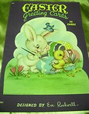 Vtg Paper Doll Greeting Cards Book 1947 Easter by Eve Rockwell Saalfield Nr Mint