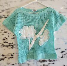 New listing Vintage 80s Tess Honolulu Turquoise Knit Applique Tee M