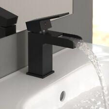 ENKI BT8503 Black Square Waterfall Basin Mixer Tap Designer Bathroom Ultra PLAZA
