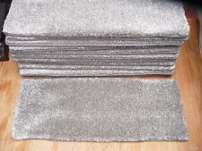 22 inches (56cm) 12x STAIR PADS / TREADS BROWN SOFT PILE LUXURY THICK PILE #3258