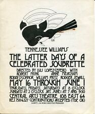 Tennessee Williams The Latter Days of a Celebrated Soubrette Original Program