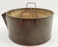 Antique Copper Bottom Candy Chocolate Cottage Cheese Skimming Pot w/ Low Spout