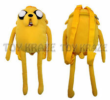 "ADVENTURE TIME PLUSH BACKPACK! JAKE THE DOG SOFT FIGURE SCHOOL 18-19"" NWT"