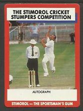 AUSTRALIA 1990 STIMOROL GUM COMPETITION TRADE CARD CRICKET DENNIS LILLEE No 42