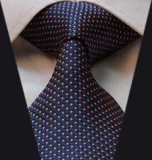 TC1001K8 Blue Pink Check Jacquard Woven Classic Silk Man Tie Necktie