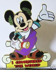 Disney WDW I Conquered The World Pin Pursuit Mickey Mouse Pin **