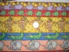 Fabric-Jungle Time Strip Fabric -- So cute, elephants