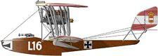 Lohner E Reconnaissance Flying Boat Aircraft Mahogany Wood Model Large New
