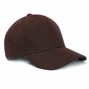 Wholesale Unisex Plain Baseball Cap Solid Color Hat Adjustable Wool Hook & Loop