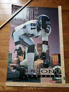 Vintage DEION SANDERS BIG TIME COSTACOS BROTHERS POSTER Atlanta Falcons Rare