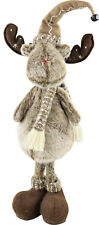 "Hoff Interieur 6468 Reindeer Figurine Woodland "" Plush Standing M. Scarf And Hat"