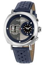 Jacques Lemans Mens Wrist Band Watch Chronograph Lugano Chrono 1-2058B