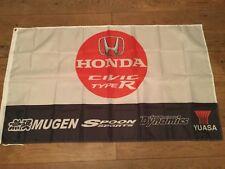 Honda Mugen JDM Civic Vtec Accord Prelude NSX garage workshop flag banner