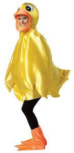Yellow Ducky Adult Costume Unisex Mens Womens Animal Duck Duckling Halloween