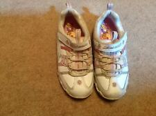 IMMACULATE WHITE/PINK LEATHER SKECHERS GIRLS SILVER SPARKLE TRAINERS SIZE UK 11