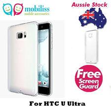 TPU Gel Jelly Case Cover for HTC U Ultra Clear + SP