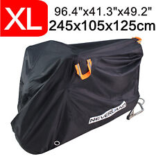 XL 210D Waterproof Motorcycle Cover Motorbike Storage Scooter Rain Sun Protector